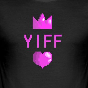 yiff - Men's Slim Fit T-Shirt