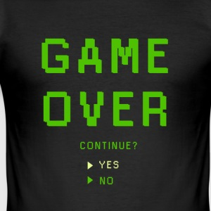 Game Over. Continuer? OUI - NON - Tee shirt près du corps Homme