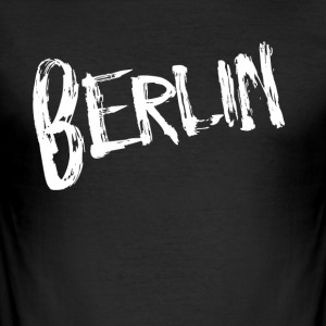 Berlin font - Slim Fit T-skjorte for menn