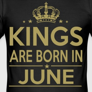 Kings are born in June gift birthday shirt - Men's Slim Fit T-Shirt
