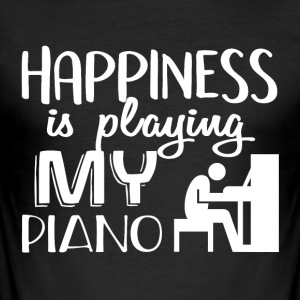 I Love My PIANO - Slim Fit T-skjorte for menn