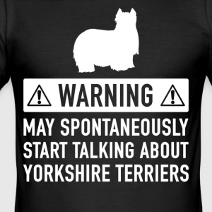 Funny Yorkshire Terrier Gift Idea - Men's Slim Fit T-Shirt