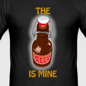TheBeerIsMine - Slim Fit T-shirt herr