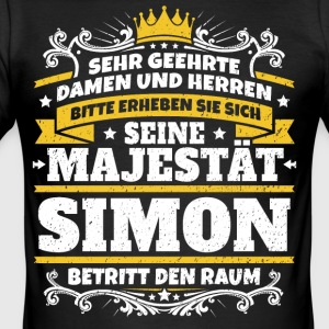 Hans Majestet Simon - Slim Fit T-skjorte for menn