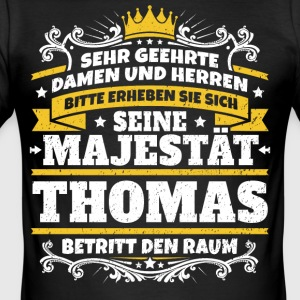 His Majesty Thomas - Men's Slim Fit T-Shirt