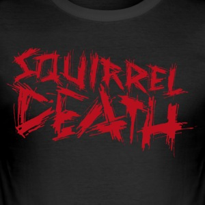 SQUIRREL DEATH - Logo red - Men's Slim Fit T-Shirt
