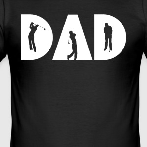 Dad Golf Silhouette T-Shirt - Men's Slim Fit T-Shirt