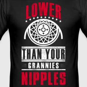 Lower than your grannies nipples - Men's Slim Fit T-Shirt