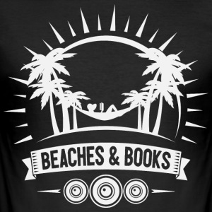 Retro Beach läsning - Slim Fit T-shirt herr