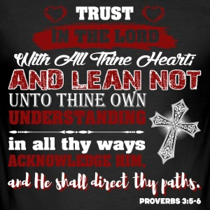Trust God Psalm - Men's Slim Fit T-Shirt