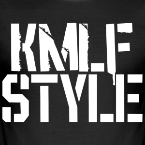 KMLF-STYLE-White - Tee shirt près du corps Homme