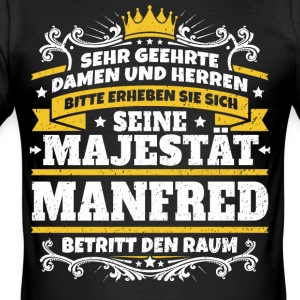 Seine Majestät Manfred - Männer Slim Fit T-Shirt