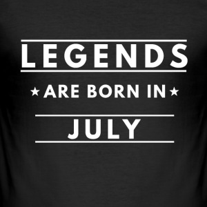 Legends er født i juli - Herre Slim Fit T-Shirt