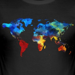 Colorful world - Men's Slim Fit T-Shirt
