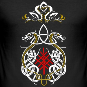 Viking drager triquetra - Herre Slim Fit T-Shirt