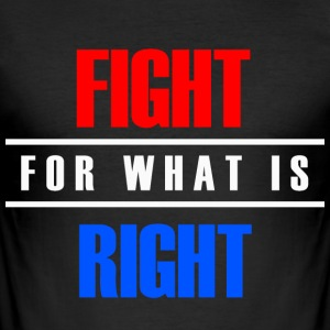 Fight for Rights - Men's Slim Fit T-Shirt