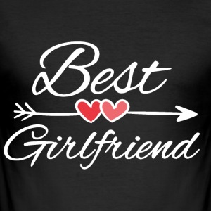 Best girlfriend - Männer Slim Fit T-Shirt