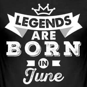 Legends juni Bursdag - Slim Fit T-skjorte for menn