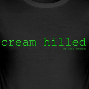 cream_hilled - Männer Slim Fit T-Shirt