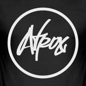 Atrox Logo-Weiß-Transparent - Männer Slim Fit T-Shirt