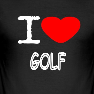 I LOVE GOLF - Men's Slim Fit T-Shirt