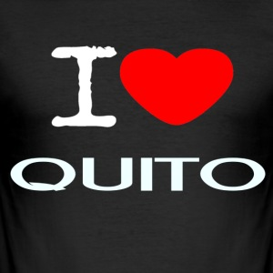 I LOVE QUITO - Men's Slim Fit T-Shirt