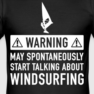 Funny Windsurfing Gave Idé - Herre Slim Fit T-Shirt