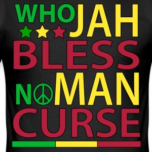 Who Jah Bless No Man Curse - Men's Slim Fit T-Shirt