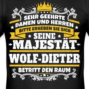 His Majesty Wolf-Dieter - Men's Slim Fit T-Shirt
