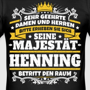 Hans Majestet Henning - Slim Fit T-skjorte for menn