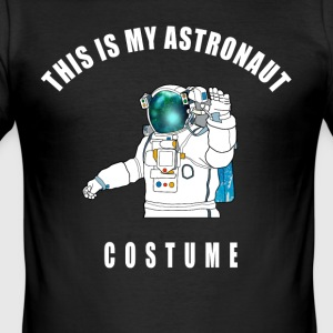 kostym astronaut space space all universum LOL - Slim Fit T-shirt herr
