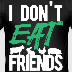 I don't eat animals friends shirt - Men's Slim Fit T-Shirt