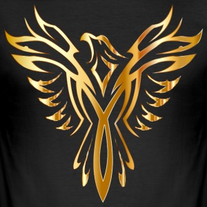 Like Phoenix from the ashes gold golden fenix - Men's Slim Fit T-Shirt