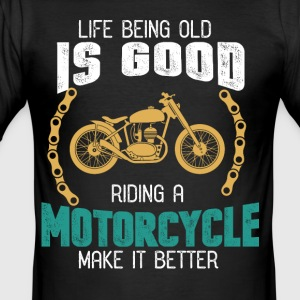 motorcyclist - Men's Slim Fit T-Shirt