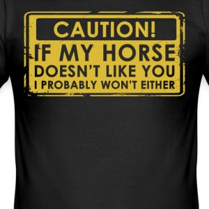 I love horses gift / design. Order here. - Men's Slim Fit T-Shirt