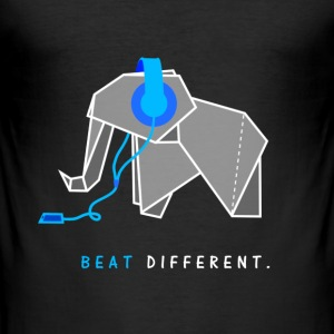 beat different elefant - Männer Slim Fit T-Shirt