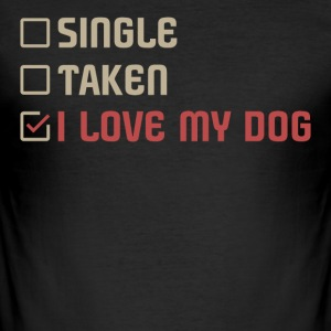 Enkelt Taget LOVE MY DOG - Herre Slim Fit T-Shirt