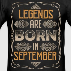 Legends september Bursdag - Slim Fit T-skjorte for menn