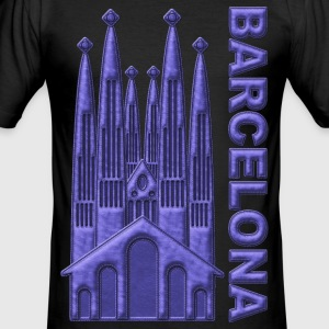 Barcelona Sagrada Familia España - Men's Slim Fit T-Shirt