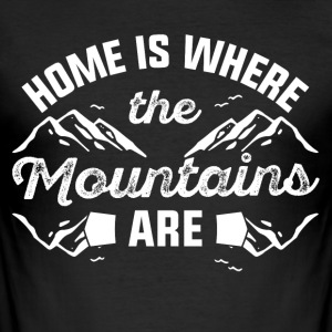 Home mountains - Men's Slim Fit T-Shirt