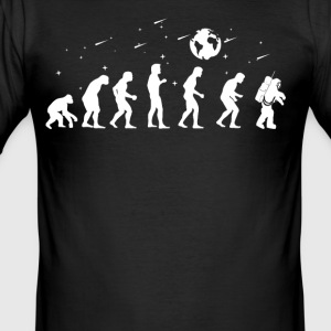 astrologue Evolution astronaute - Tee shirt près du corps Homme