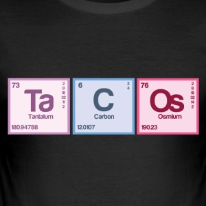 Periodic table elements: Ta C Os - Men's Slim Fit T-Shirt