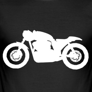 Cafe Racer V-Twin White - Slim Fit T-shirt herr
