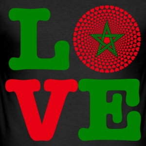 Marokko Marokko المغرب LOVE Mandala - Herre Slim Fit T-Shirt