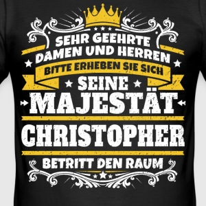 His Majesty Christopher - Men's Slim Fit T-Shirt