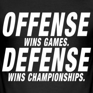 Offense Defense Championship - slim fit T-shirt