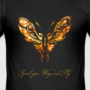 Butterfly livet romantisk fly spell jente - Slim Fit T-skjorte for menn