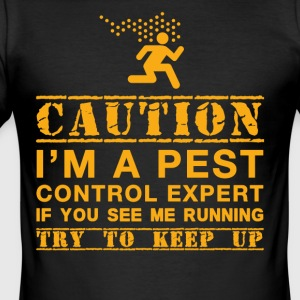 Funny PestControl present - Slim Fit T-shirt herr