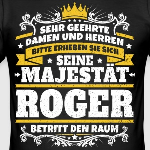 Hans Majestät Roger - Slim Fit T-shirt herr
