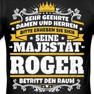 His Majesty Roger - Men's Slim Fit T-Shirt